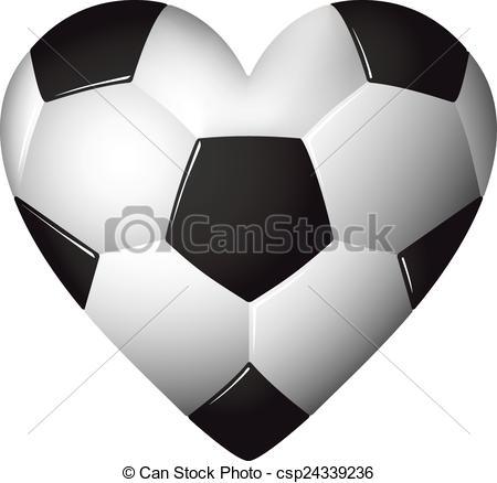 Heart-shaped clipart football Ball shaped illustration shaped soccer