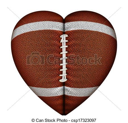 Heart-shaped clipart football Resolution Heart Clipart Shaped 450x434