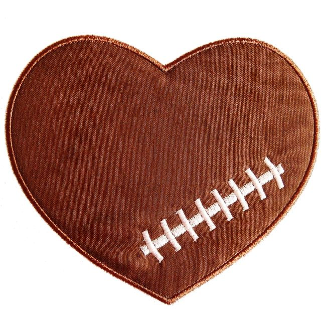 Heart-shaped clipart football FansBaby 110 Pinterest about football
