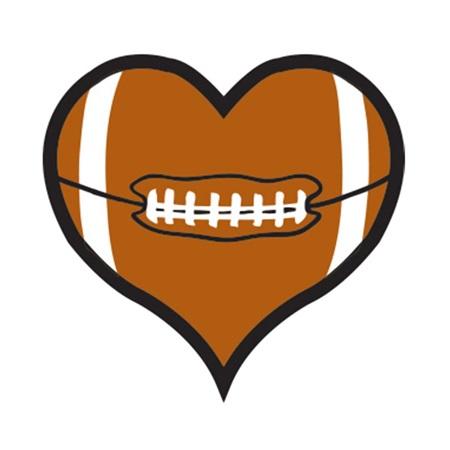 Heart-shaped clipart football Shaped Tattoo Football Tattoo Heart