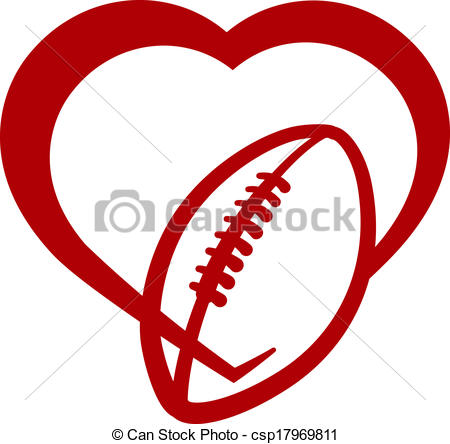 Heart-shaped clipart football Of Clip American Vector of