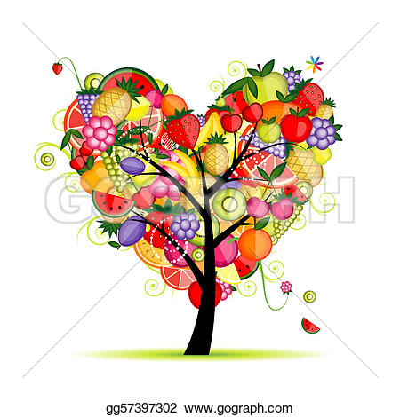 Heart-shaped clipart fruit Fruit your Energy Tree