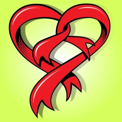 Heart-shaped clipart funky Me Ribbon Shape Heart Shape