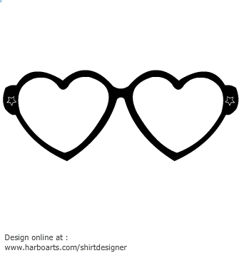 Heart-shaped clipart funky Cliparts glasses Zone Heart clipart