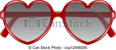 Heart-shaped clipart glass #7