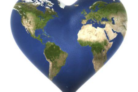 Heart-shaped clipart globe #6