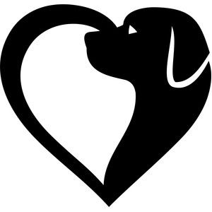 Heart-shaped clipart half heart A AND HALF HEART DOG