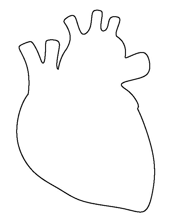 Heart-shaped clipart half heart Patterns outline for stencils crafts