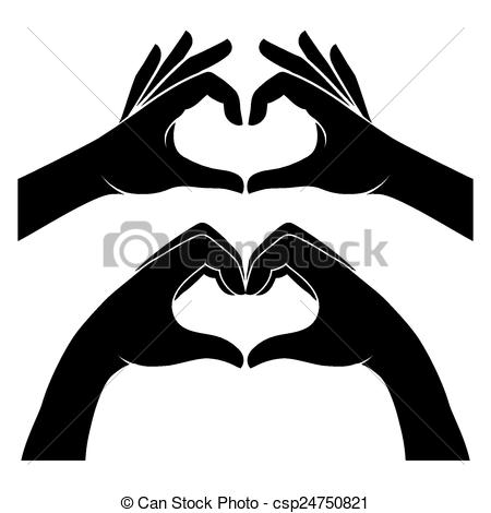 Heart-shaped clipart hand Hands of Two of form