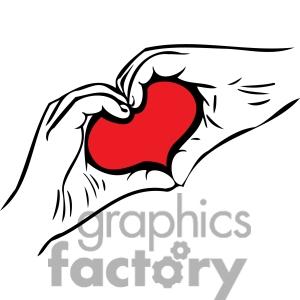 Heart-shaped clipart hand Hand Clipart Clipart Forming Eagle
