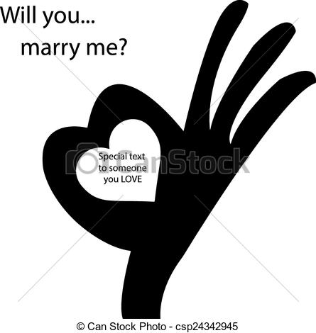 Heart-shaped clipart hand Vector hand  sign EPS