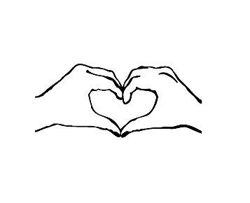 Heart-shaped clipart hand  heart making heart Rubber
