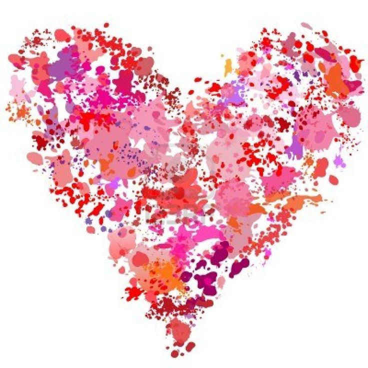 Heart-shaped clipart hart Pinterest on Mosaics hart splatter