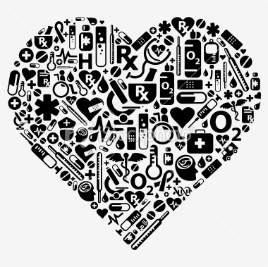 Heart-shaped clipart healthcare Stock  medical shape icons
