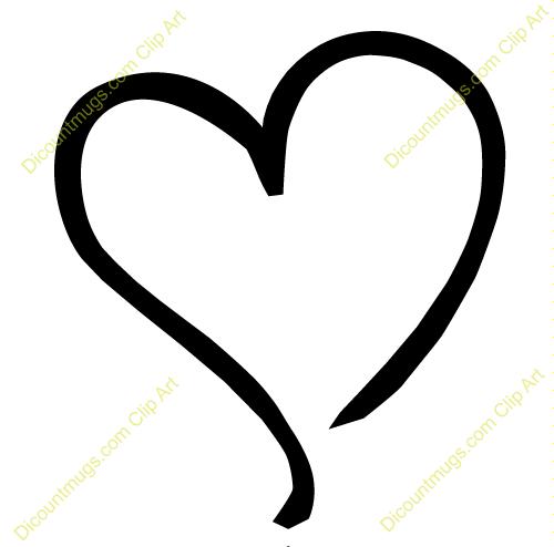 Heart-shaped clipart heart outline Wedding the Ideas left Outline