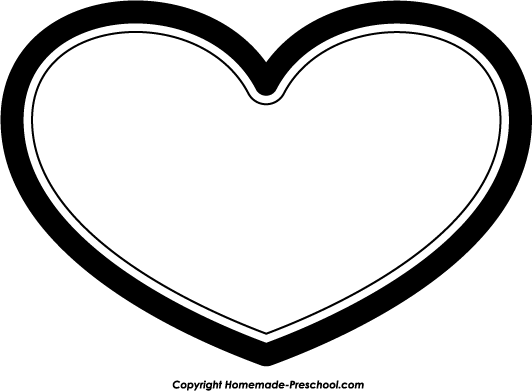 Heart-shaped clipart heart outline White Clipart Art Free Clipart