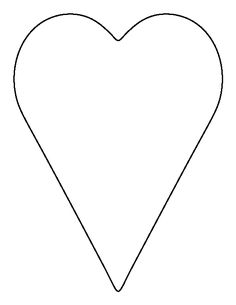 Heart-shaped clipart heart outline  Templates printable Craft outline