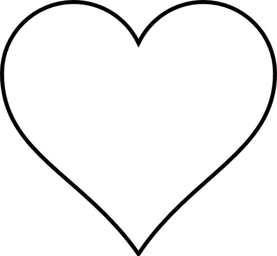 Heart-shaped clipart heart outline Outline Heart Clipart black Cliparts