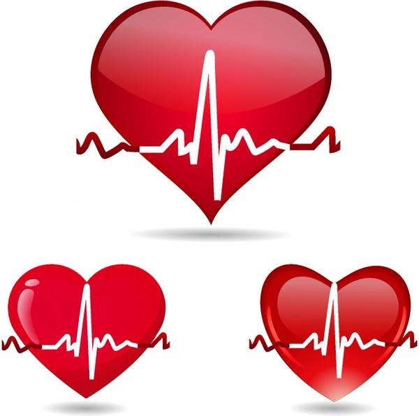 Heart-shaped clipart heart pulse #4