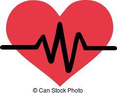 Heart-shaped clipart heart pulse Heart line simple beat pulse
