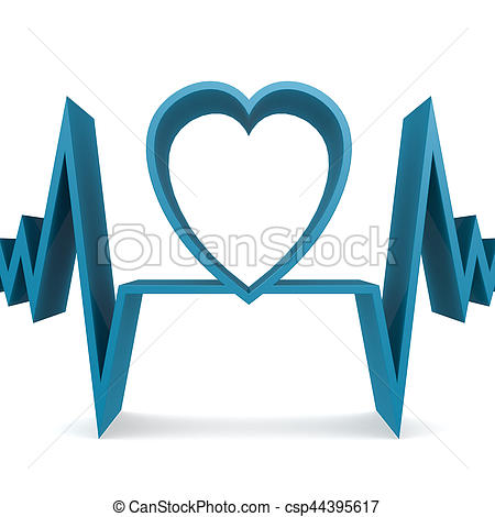 Heart-shaped clipart heart pulse 3d heart with heart of