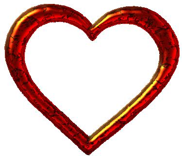 Heart-shaped clipart heart shape Art borders art  red