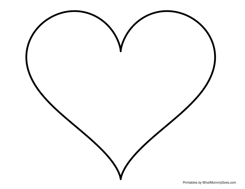 Heart-shaped clipart huge Sized  Heart Sized Printable
