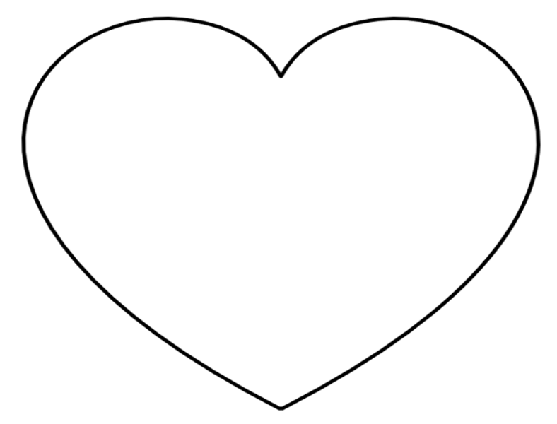 Heart-shaped clipart huge Heart on Large Landscape perfect