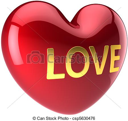Heart-shaped clipart icon Red love Love Big Big