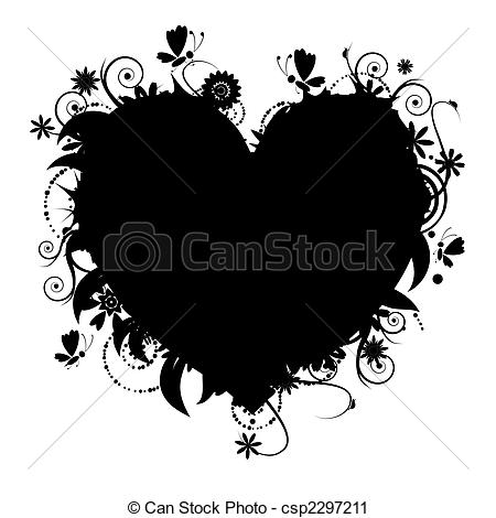 Heart-shaped clipart icon #4