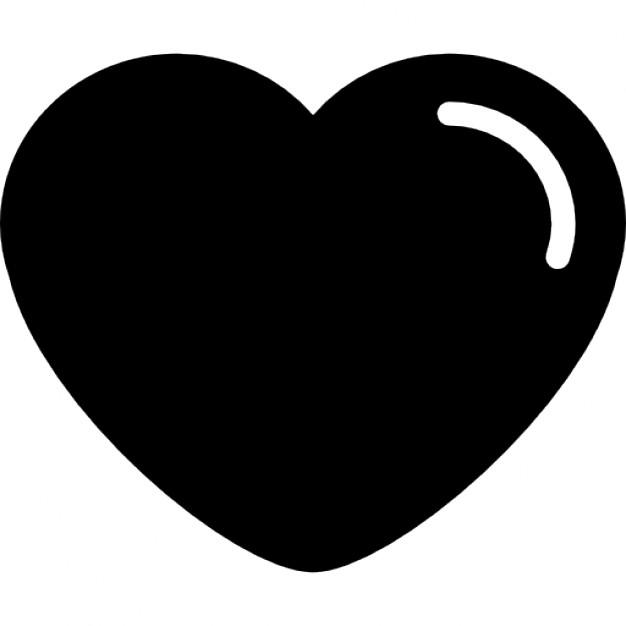 Heart-shaped clipart icon Shape edges variant Heart Icon