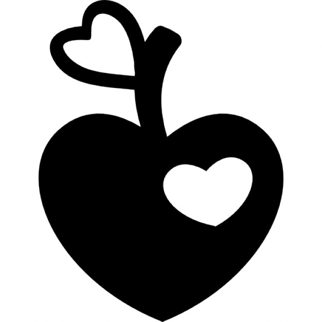Heart-shaped clipart icon Shaped shaped apple shape Heart