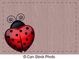 Heart-shaped clipart ladybug 042  ladybug Stock 12
