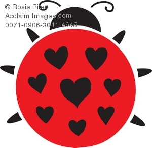 Heart-shaped clipart ladybug Shaped Clip Art Ladybug Heart