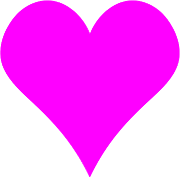 Heart-shaped clipart large heart #1