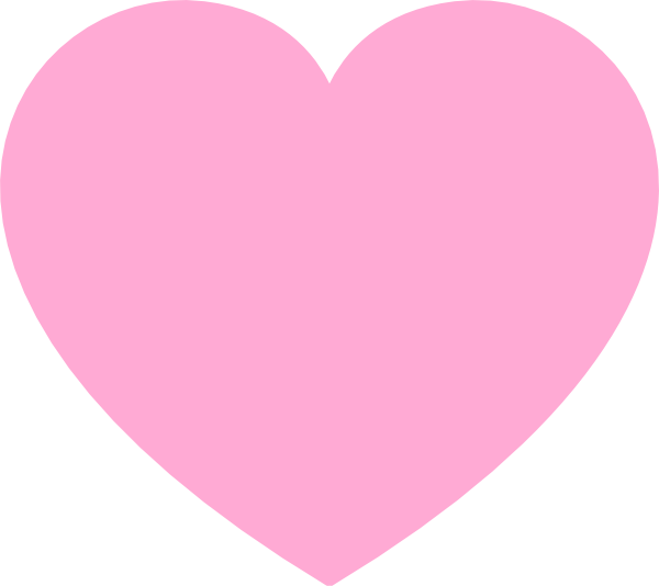 Heart-shaped clipart large heart #3