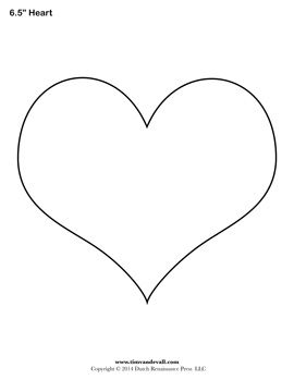 Heart-shaped clipart large heart Best Printable on crafts art