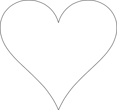 Heart-shaped clipart large heart #7