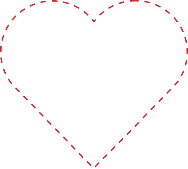 Heart-shaped clipart large heart  Heart Stitched Clip art