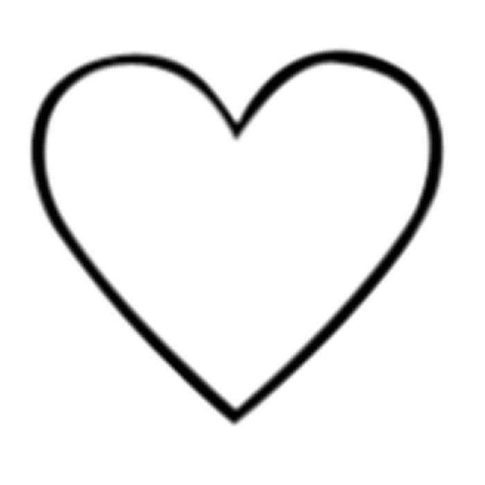 Heart-shaped clipart large heart #6