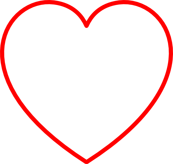 Heart-shaped clipart large heart Clip  Heart Gray Red