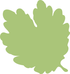 Heart-shaped clipart leaf #4