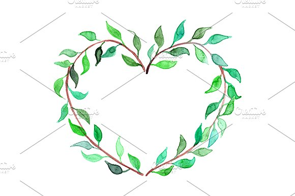 Heart-shaped clipart leaf #9