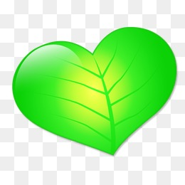Heart-shaped clipart leaf #7