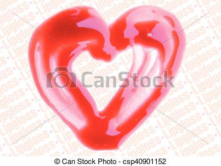 Heart-shaped clipart lip Illustration illustration Clipart lipgloss lipgloss