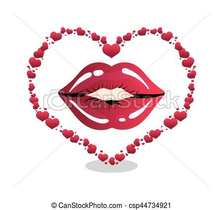 Heart-shaped clipart lip Heart shape shape vector Vector