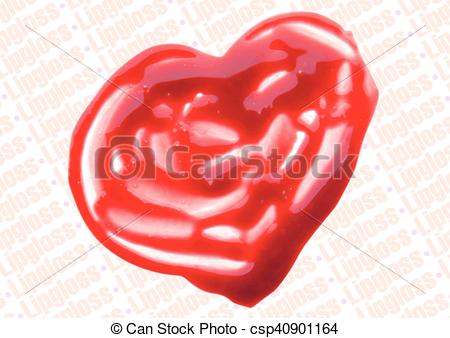 Heart-shaped clipart sun Clip heart lipgloss illustration Vector