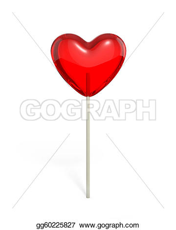 Heart-shaped clipart lollipop White Stock gg60225827 Heart lollipop