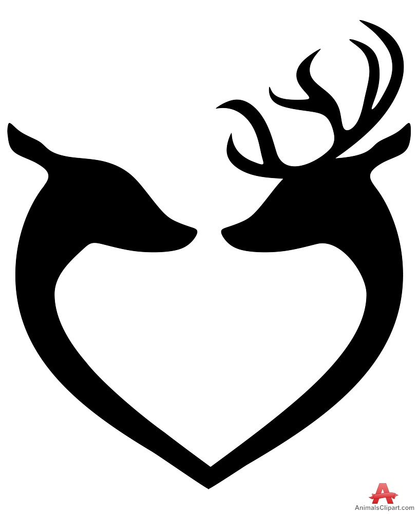 Heart-shaped clipart loveheart Free Deers Download the in