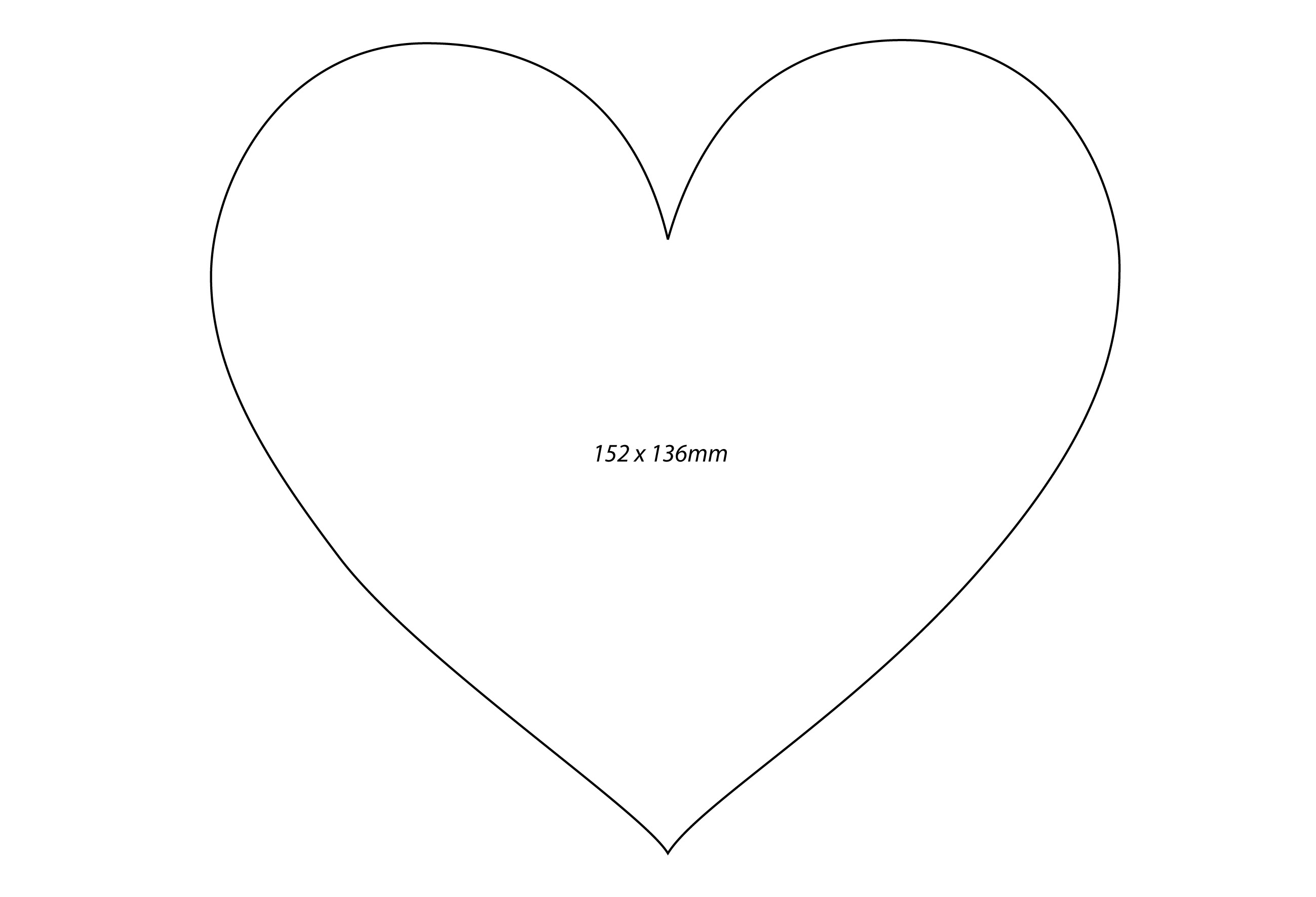 Heart-shaped clipart loveheart Heart Free Large Template Printable